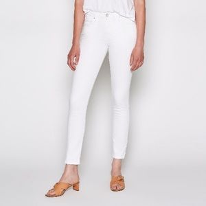 Joie Jeans Mid-Rise Skinny White